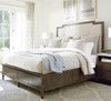 Playlist king size upholstered platform bed