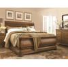 Louis Philippe Solid Wood Queen Sleigh Bedroom Furniture