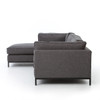 Grammercy Upholstered Modern 2 Piece Sectionals Sofas
