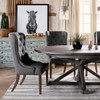 """Cintra Reclaimed Wood Expandable Round Kitchen Table 47"""""""