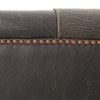 Maxx Black Destroyed  Leather Tufted Sofa