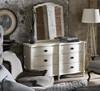 Amity French Oak Wood White Dresser with Mirror