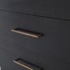 Modern Solid Wood 6 Drawer Black Dresser