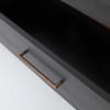 Modern Burnished Black Wood 6 Drawer Dresser