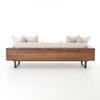 Ranger Industrial Loft Reclaimed Wood Frame Sofa - Natural Linen