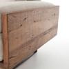 Ranger Industrial Loft Reclaimed Wood Sofa -  Stonewash Twill Stone
