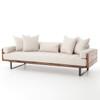 Ranger Industrial Loft Reclaimed Wood Sofa - Natural Linen
