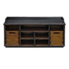 Ardusin Solid Wood Entryway Storage Bench