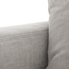 Plume Upholstered Block Arm Pewter Grey Sofa 96""