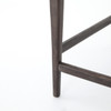 Tyler Mid-Century Modern Black Leather Counter Stool