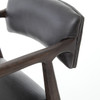 Tyler Mid-Century Modern Black Leather Counter Stool - Oak