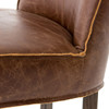 Urban-Rustic Chestnut Leather Counter Stool