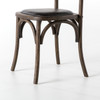 French Bistro Chair with Leather Seat