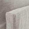 """Loft Modern Beige Slipcover Sofa 96"""""""