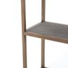 Hollywood Modern Shagreen C-Table with shelf
