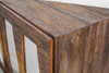 Berlin Reclaimed Wood 4 Door Console - Brass Legs