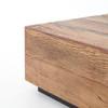 "Grady Reclaimed Peroba Wood Slab Coffee Table 53"""