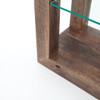 Beam Reclaimed Wood and Glass Tall Bookcase