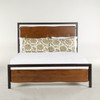Live Edge Solid Wood & Iron Queen Platform Bed