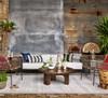 Cruz Round Outdoor Coffee Table - Antique Rust