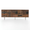 Taren Reclaimed Wood + Metal Patchwork Media Console