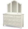 Rosalie Kids 9 Drawers Double Dresser - White