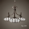 Uttermost Galeana 3 Light Iron Chandelier