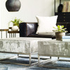 Concrete and Chrome Coffee Table
