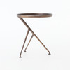 Schmidt Aluminum Tripod Accent Table