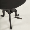 """Steampunk Industrial Crank Adjustable Round End Table 24"""""""