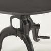 "Steampunk Industrial Crank Adjustable Round Table 30"""