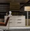 "Modern Grey Oak Huston 6 Drawer Dresser 70"""