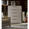 Modern Grey Oak Huston 5 Drawers Tallboy Chest