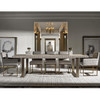 Modern Oak Wood + Bronze Metal Leg Extending Dining Table