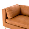 "Beckwith 94"" Leather Sofa - Camel"