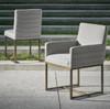 Cooper Modern Bronze Metal Leg Upholstered Side Chair