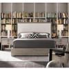 Nolan Modern Grey Oak Tufted Headboard Cal King Platform Bed