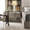 Kennedy Modern Grey Oak 1 Drawer Nightstand with pull out shelf