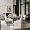 Desmond Modern Oak Wood + Stainless Steel Base Extension Dining Room Table
