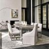 Townsend Belgian Linen Upholstered Skirted Dining Chair