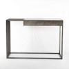 Regan Industrial Iron and White Marble Console Table