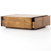 Duncan Reclaimed Wood  4 Drawer Square Storage Coffee Table