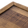 """Drake Rustic Reclaimed Wood Square Tray Coffee Table 42"""""""