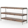 SIMIEN MEDIA CONSOLE,WEATHERED HICKORY,GUNMETAL,IHRM-053