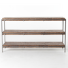 Barton MEDIA CONSOLE-WEATHERED HICKORY/GUNMETAL, IHRM-053