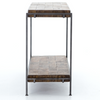 SIMIEN CONSOLE-WEATHERED HICKORY/GUNMETAL IHRM-072