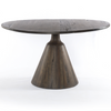 Chip Rustic Lodge Reclaimed Wood Round Pedestal Dining Table
