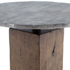 BOOMER BISTRO TABLE - LIGHT GUNMETAL/WEATHERED HICKORY IHRM-059