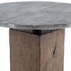 BOOMER BISTRO TABLE - LIGHT GUNMETAL/WEATHERED HICKORY IHRM-059