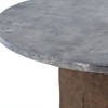 Boomer Rustic Industrial Wood Block Pedestal Bistro Table 42""